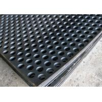Best 2mm Thick Perforated Steel Mesh , 41 % Open Rating Black Perforated Iron Sheet wholesale