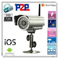 Best 1.0 Megapixel Plug and Play outdoor Waterproof IP Camera wireless wifi H.264 support sd wholesale