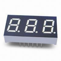 Best Three-digit 7 Segment LED Display, Red Emitting Color 10mm Digit Height wholesale