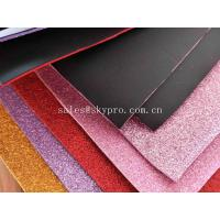 China Recycle Goma Glitter EVA Foam Sheet 38 Degree Hardness , 1.2-44mm Thickness on sale