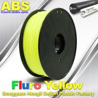 Best High Precision Fluo - Yellow ABS 3D Printer Filament 1kg / Spool wholesale
