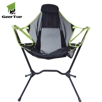 Best Double Stitching 600D Oxford Camping Swing Chairs With Carry Bag wholesale