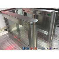Best Biometric Swing Barrier Gate Stainless Steel Acrylic Flap Barrier Gate wholesale