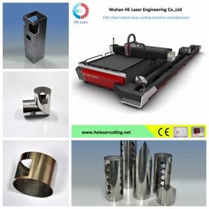 Quality 500w / 700w / 1000w Fiber Laser Pipe Cutting Machine  , Tube Laser Cutter Equipment wholesale