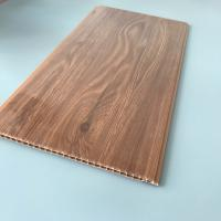 Best 10 Inches Brilliant Brown Color PVC Wood Panels Corrosion Resistance Various Styles wholesale