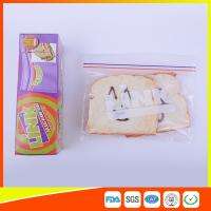 Best Food Grade LDPE Double Zipper Plastic Zip Lock Bags For Food , Eco Friendly Sandwich Bags wholesale