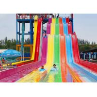 Best Rainbow Color FRP Aqua Racer Water Slide Youth Adults Outdoor Waterslide wholesale