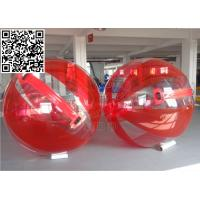 Cheap Logo Printed Red Water Running Ball Inflatable Outdoor Games For Water Park wholesale