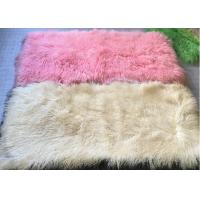 Best Long Hair Washable Mongolian Lamb Throw Smooth Shining For Making Decorative Rugs wholesale