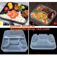 Best Supermarket display wholesale storage fruit food defrosting plastic tray,manufacturer supply bpa free reusable 3 compart wholesale