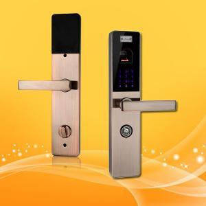 Best 4.5V-6V Face And Fingerprint Lock , Fingerprint Interior Door Lock Code Unlock wholesale