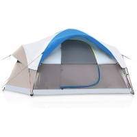 Best 6 Person Dome Camping Tent With 190T Silver Plasters Rainfly wholesale