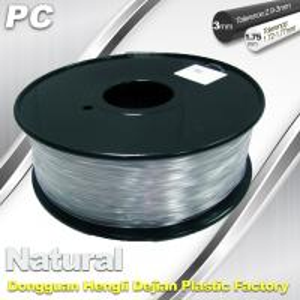 Cheap Good Transmission of Light PC 3D Printer Transparent Filament 1.75mm / 3.0mm for sale
