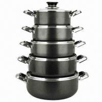 Best Cookware Set, Made of Aluminum, Includes Sauce Pot and Frying Pans wholesale