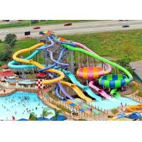 Best Interactive Family Water Slide , Adult Fiberglass Residential Pool Slides wholesale