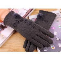 Best Micro Velvet Womens Fleece Gloves , Soft Smatouch Gloves With Fur Lining wholesale
