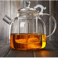 China 1900ML Heat-Resisitant Microwave Safe Glass Tea Pot Coffee Maker Infuser With Glass Basket Direct From Factory on sale