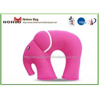 Best Funny Pink Baby Neck Support Pillow / Elephant Shaped Car Pillows For Kids wholesale