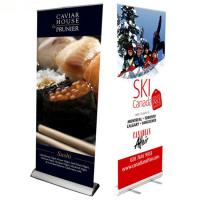 Cheap Custom Large Retractable Display Banners , Advertising Trade Show Roll Up Banners Stand for sale