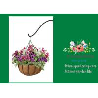 "Best Outdoor Metal Palm Hanging Garden Pots With 12"" Diameter Liner wholesale"