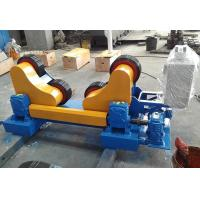 Quality Single Power Tank Turning Rolls with Rubber Wheels Self Adjustment Welding Rotataor wholesale