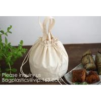 China Natural Beige Thick Canvas Drawstring Pouches Produce Bags Muslin Bags Gift Bags Sacks Sachet Bags for Jewelry Candy Fav on sale