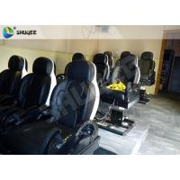 Best 3 DOF Pneumatic System 5D Movie Theater Luxury Black Chair Yellow 3D Glasses wholesale