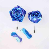Cheap Wedding Party Handmade Flower Brooch Eco - Friendly Fray Resistant Material for sale