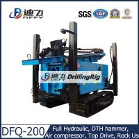 Buy cheap 200m DFQ-200 DTH pneumatic used Drilling Rig on Crawler Mounted, Hard Rock from wholesalers
