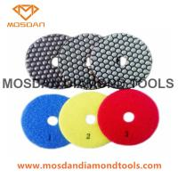 Best 4 Inch 3 Steps Shine Light  Marble Terrazzo Dry Polishing Pads wholesale