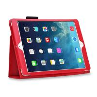 China Lady Luxury Lichi Leather iPad Cases with Stand Smart Folio , Red Color on sale