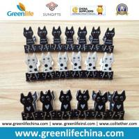 Best New Selling Plastic Black/White Sheet Cat Shape Binder Paperclips wholesale