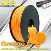 Cheap Orange  3D Printing Materials 1.75mm ABS 3D Printer Filament In Roll for sale