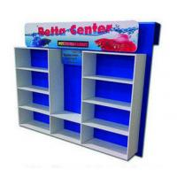 Best Promotional Cardboard Floor Display Stands With Compartments For Daily Necessities wholesale