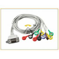 Buy cheap Gray 10 Lead ECG Electrode Cable Holter DMS 300 Series With Leadwires Snap IEC from wholesalers