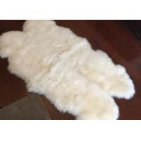 Best Warm Ivory 4 X 6 Quad Sheepskin Rug 140 *180cm Comfortable For Sofa Seat Covers wholesale