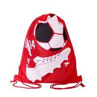 Best Full Side Printed Polyester Drawstring Backpack , Outdoor Gym Sports Backpack wholesale