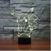 Best Pokemon GO Pikachu 3D LED Night Lamp 7 Color Changing Touch Switch Table Lamp wholesale