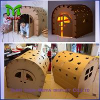 Cheap DIY Paper Corrugated cardboard houses for kids cardboard box playhouse for sale