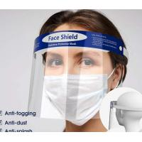Best Splash Proof Disposable Face Shield Non Toxic Tasteless With Elastic Band wholesale