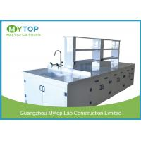 Buy cheap Hospital PP Modern Laboratory Furniture Lab Bench With Sink Acid Resistance from wholesalers