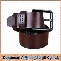 China AIMI Genuine leather belt with pin buckle, pure leather belt for men, cheap leather belts on sale