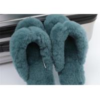 Best Soft Ladies Indoor Sheep Wool Slippers With Real Warm Lamb Fur Lined OEM wholesale