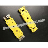 Quality Thermocouple Components / Type K Miniature Male Connector With Wire Holder wholesale