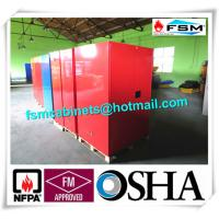 Quality Red Flammable Paint Storage Cabinets Adjustable Shelf For Chemical Hazardous wholesale