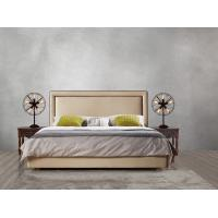 Best 2017 new design of Leather / Fabric American style Bedroon furniture Upholstered headboard set bed/king size Bed wholesale