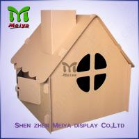Best Corrugated Paper Artwork Cardboard Kids Toys foldable Craft House wholesale