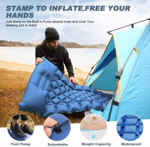 "Best 2.7"" Foot Press Inflatable 40D Nylon Camping Air Sleeping Pad 660LB wholesale"