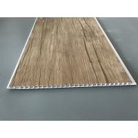 Cheap Wood Color Plastic Laminate Wall Covering , Pvc Laminated Ceiling Board for sale