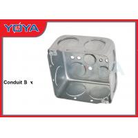 China EMT Electrical Conduit Boxes , Square Rectangular Octagonal Steel Junction Box on sale